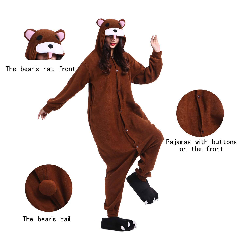 YUWELL Kigurumi Pijamas Unisex Traje Disfraz Animal Adulto Animal Pyjamas: Amazon.es: Ropa y accesorios