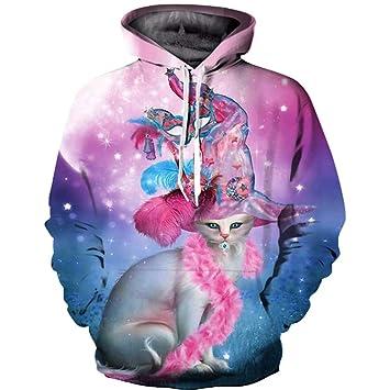 LYJLYJ 3D Animal Print suéter, Unisex, Personalidad de la ...