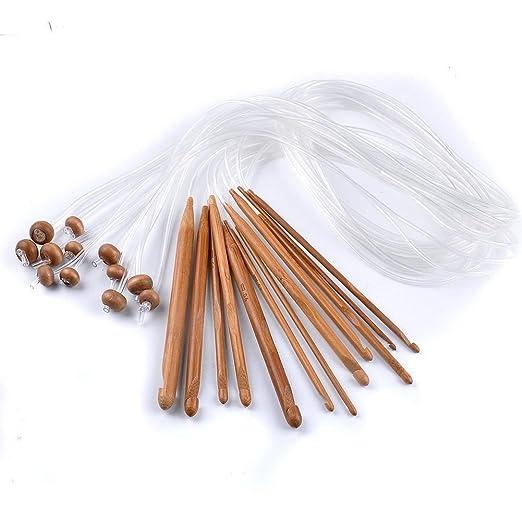Raysen Tunesische Bambus Afghanische Häkelnadel Verschwelt Bambus