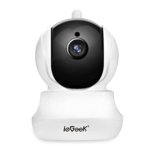 ieGeek Wi-Fi Wireless IP Camera CCTV Home Security with Pan/Tilt/Zoom, Two-way Audio, HD Night Vision, Motion Detection, Email Alarm & Notification, Elder/Pet/Nanny Monitor