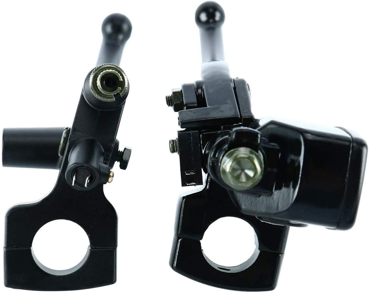 XIEQUN Links Rechts Black 1 Lenkerhauptzylinderbeh/älter Bremshebel vorne Chrome Hydraulische Bremszylinder for H o n d a Kawasaki Suzuki Y A M A H A