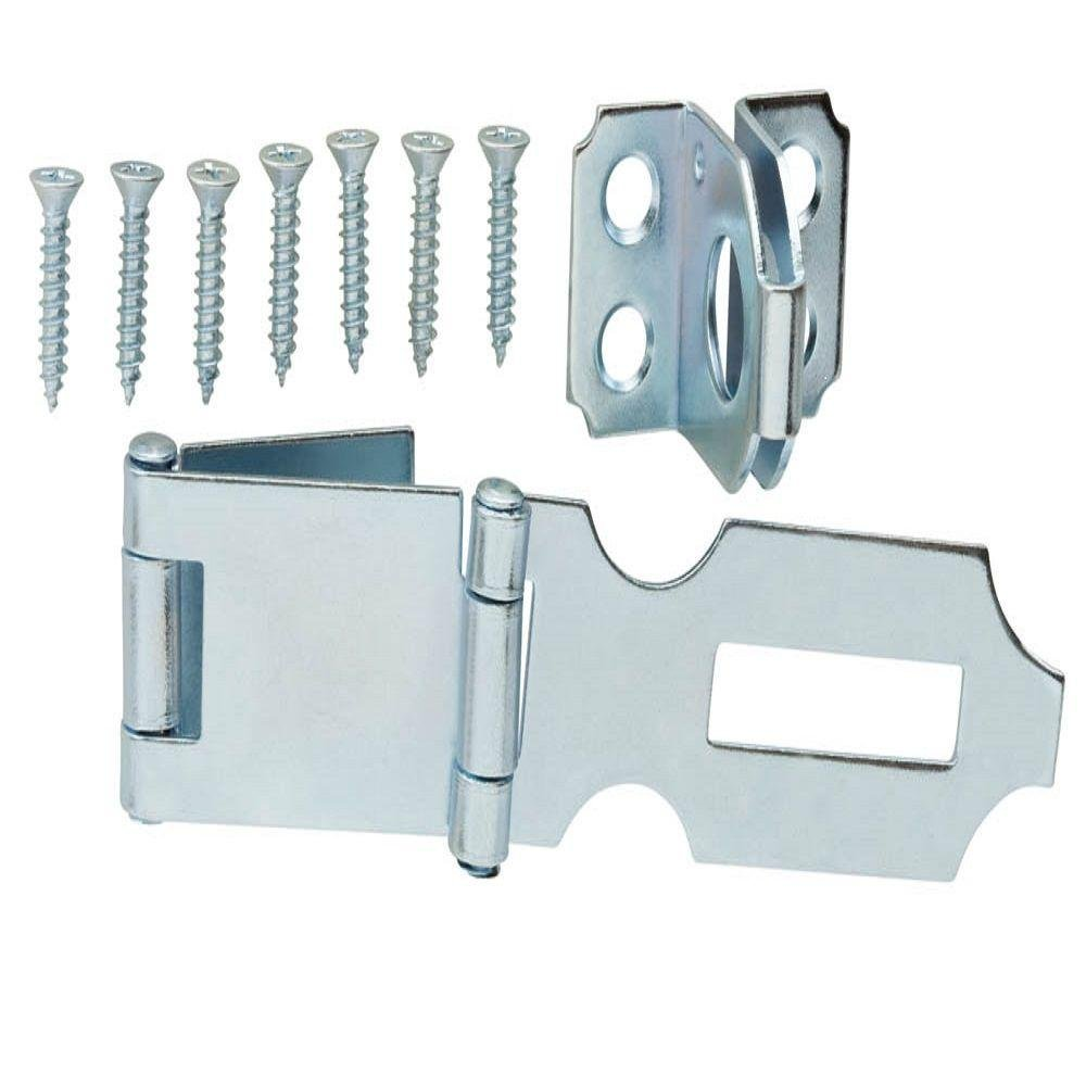 Everbilt 3 in. Double-Hinge Safety Hasp Zinc-Plated by Everbilt