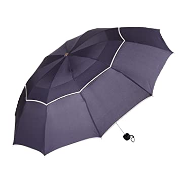 Umbrella Rain Woman Men Windproof Double Layer Sun 3 Floding 112cm Paraguas Male Women Man Travel
