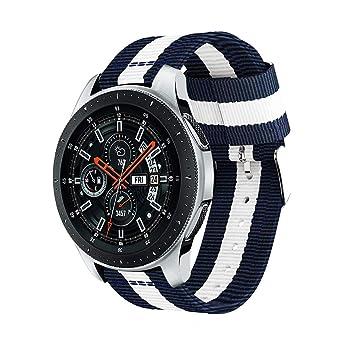 Nylon Correa para Samsung Galaxy Watch 46 mm/para Samsung Gear S3 ...