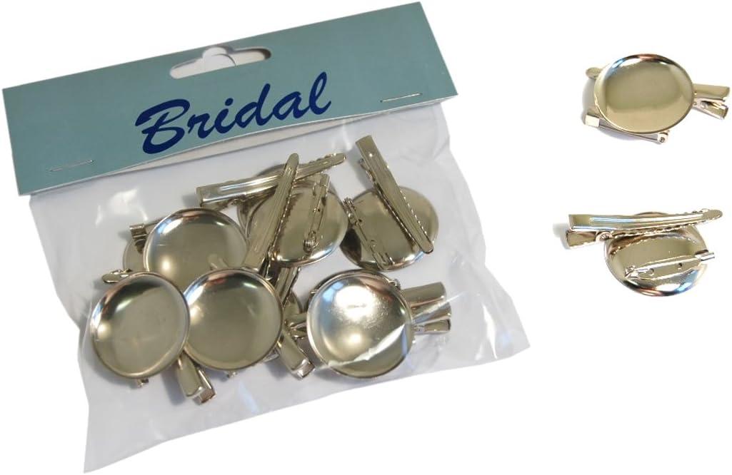 12 Metal Clips Corsage Buttonhole Pins