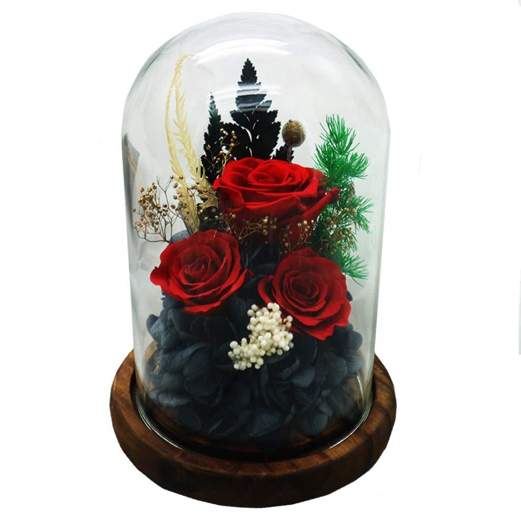 バラの花、生花の保存、永遠の花、家族の休日のパーティーバレンタインデーのクリエイティブギフト (色 : B) B07QKBCPTP B