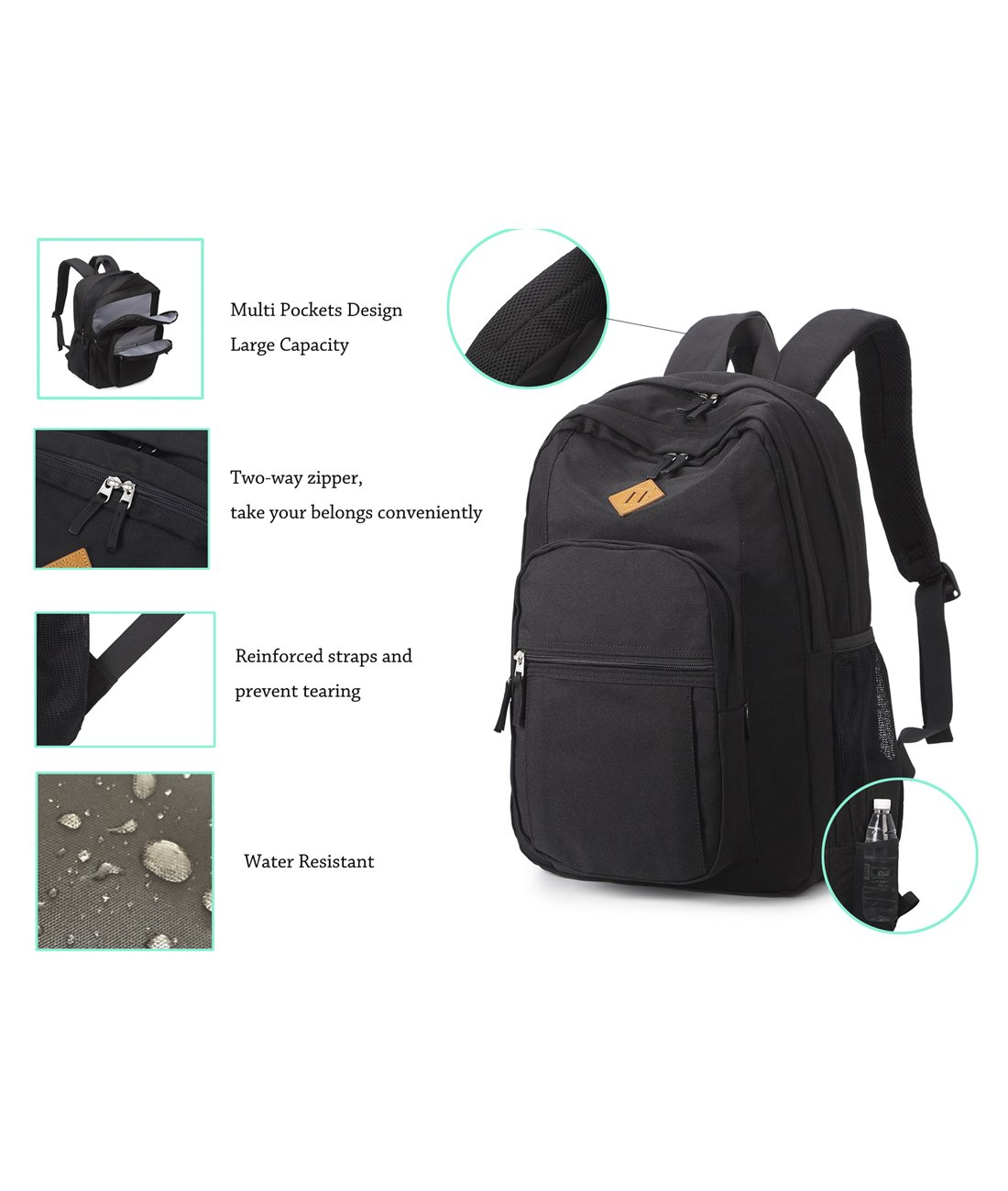 Abshoo Classical Basic Travel Backpack For School Water Resistant ... 5ac8d117fb