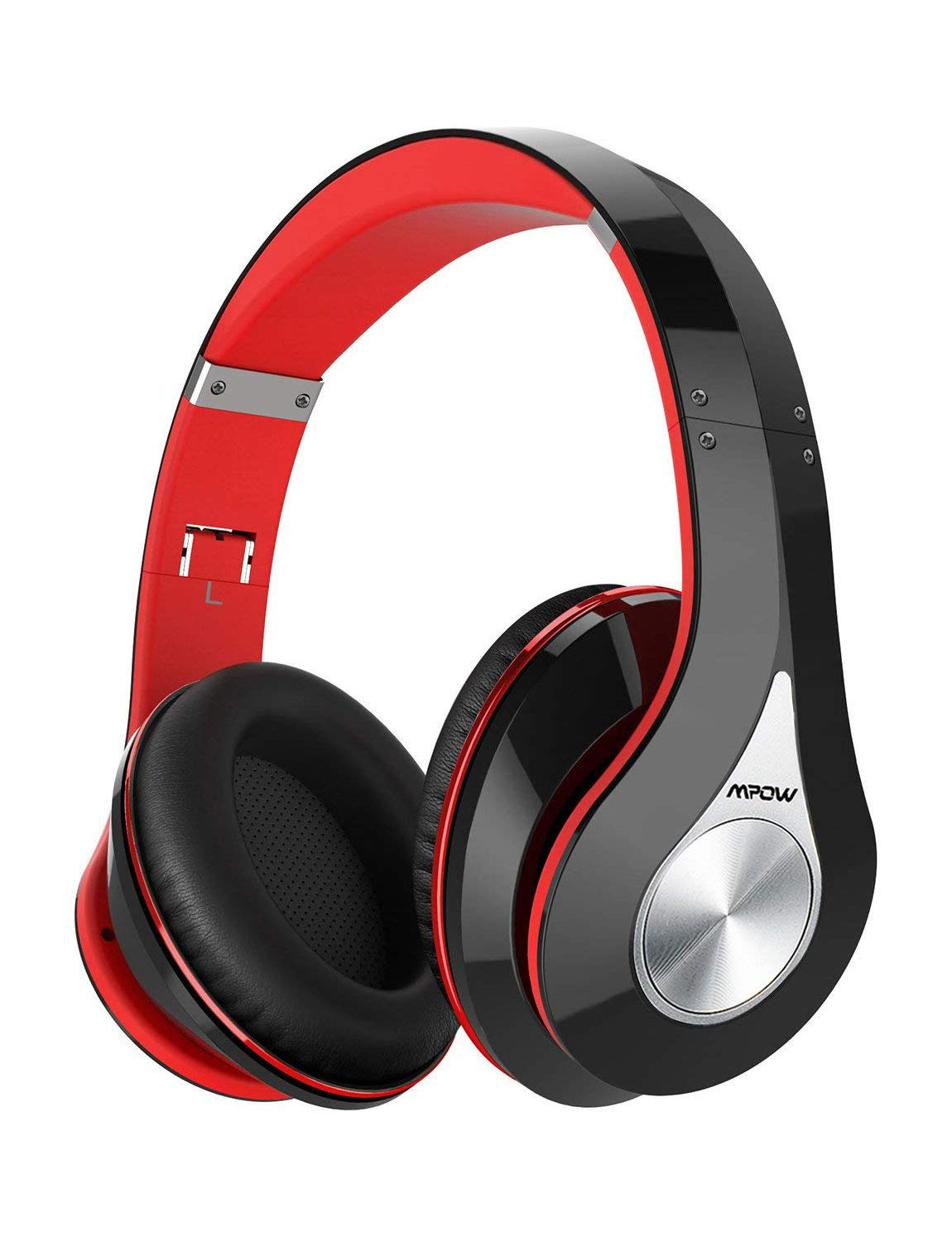 Mpow 059 Bluetooth Headphones Over Ear, Hi-Fi Stereo Wireless Headset, Foldable, Soft Memory-Protein Earmuffs, w/Built-in Mic Wired Mode PC/Cell Phones/TV by Mpow