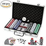 ♥♠♦♣ About DOUBLEFUN Brand♣♦♠♥ DOUBLEFUN is a top professional expert specializing in Table Game, especially in Texas Poker Chips Set and Dominoes Set.We devoted to high quality service and product for customers !About 300pcs Chips Details: B...
