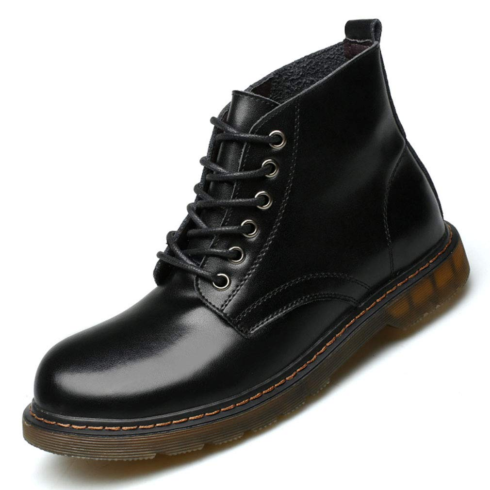 Gfphfm Men ' S Stiefel, Fashion Korean Tooling Stiefel Wild Chelsea Stiefel Fall Winter Low-Top Martin Stiefel,B,43