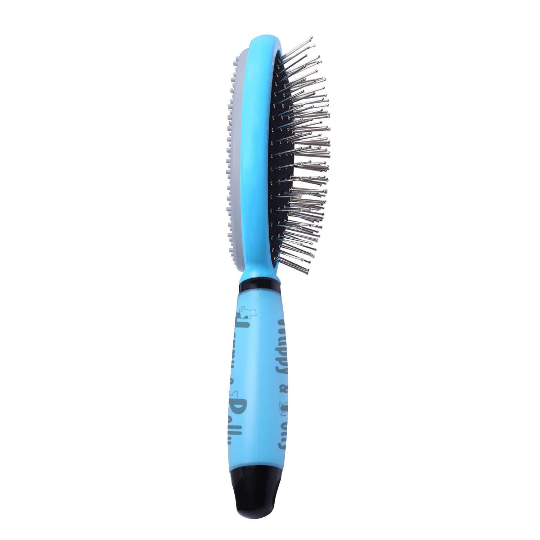 Happy & Polly Hundebürste Zupfbürste Katzenbürste Fellbürste Haar Entfernungs Kamm für Hunde, Katzen, Welpen, Hasen und Meerschweinchen usw.