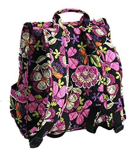 Vera Bradley Double Zip Backpack in Pirouette Pink with Black Interior