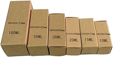 Cajas de cartón reciclado para botellas de aceite esencial, plegables, para cosméticos, maquillaje, artículos de tocador, papel kraft, papel pintalabios, botella ...