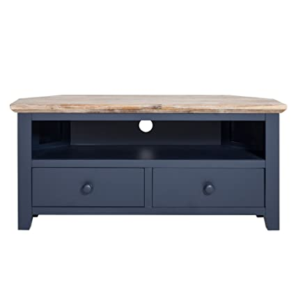 Tremendous Florence Tv Corner Unit With 2 Drawers Navy Blue Corner Tv Cabinet Fully Assembled Quality Furniture Download Free Architecture Designs Grimeyleaguecom