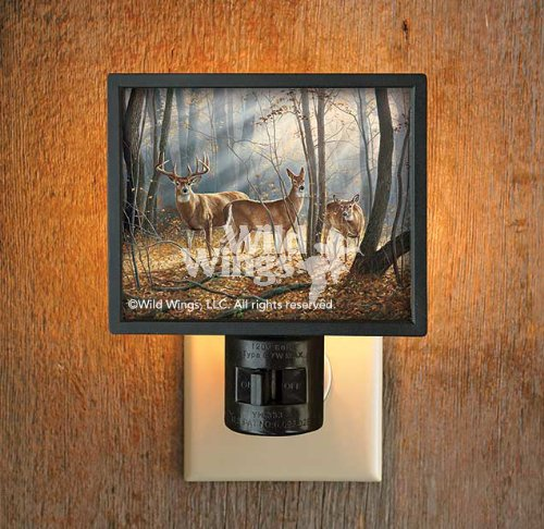 Price comparison product image Woodland Splendor Whitetail Deer Gallery Art Night Light by Rosemary Millette