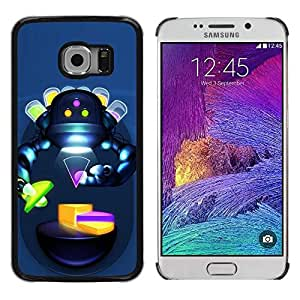 LECELL -- Funda protectora / Cubierta / Piel For Samsung Galaxy S6 EDGE SM-G925 -- Abstract Robot Sci Fi Humanoid Woman --