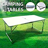 #5: 4' Folding Table Portable Adjustable Folding Camping Table Indoor Outdoor Picnic Party Dining Camp Tables