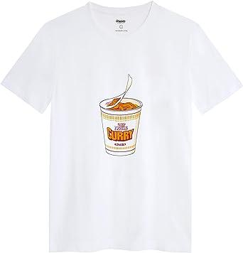 Brava Fabrics - Camiseta Hombre - Camiseta para Hombre - 100% Algodón Orgánico - Modelo Curry To Go: Amazon.es: Ropa y accesorios