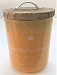 DW Home Richly Scented Sweet Melon + Pineapple Candle in Glossy Yellow Medium Tumbler, 8.5 Oz.