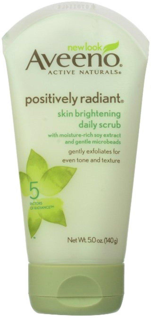 AVEENO Active Naturals Skin Brightening Daily Scrub 5 oz (4 Pack)