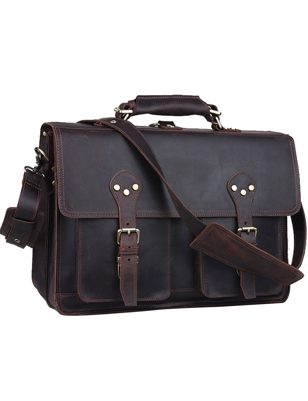 Menschwear Sac de messagerie en cuir Sac à main Marron BHaW8