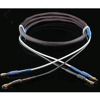 Cable De Altavoz De Fiebre 6N Sin Oxígeno Cobre Plateado Plateado De Alta Fidelidad Banana Cable