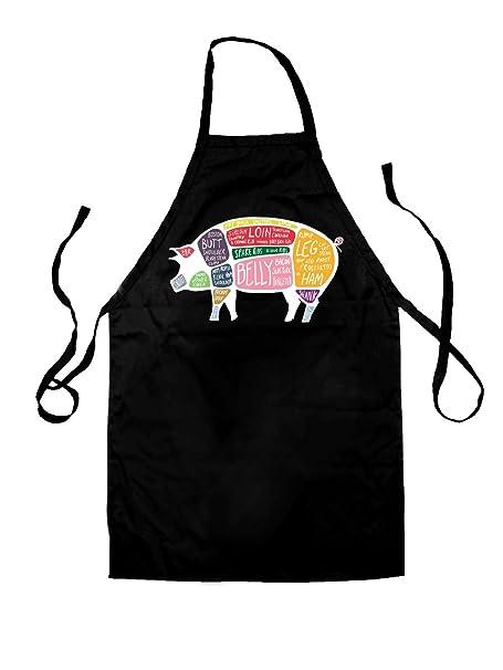 Amazon Butcher Pig Diagram Unisex Fit Kids Apron Black