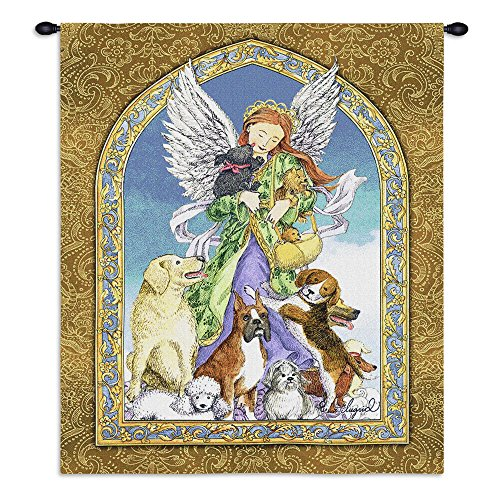 Pure Country Angel and Dogs Wall Tapestry