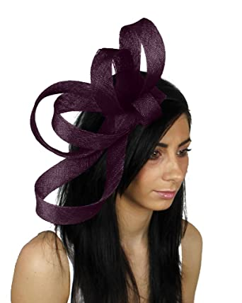 Hats By Cressida Kate Ascot Fascinator Hat With Headband - Aubergine at Amazon  Women s Clothing store  97cc60a9cc31