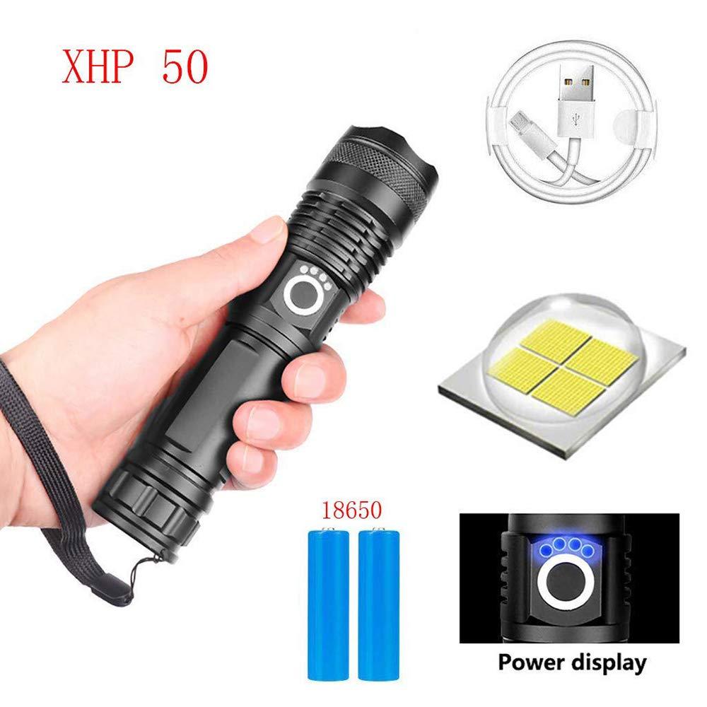 xhp50, Linterna + 18650 + cable USB zoom USB telesc/ópico linterna de camping a prueba de agua 90000 lumens xhp70.2 90000 l/úmenes xhp70.2 linterna led m/ás potente usb Zoom antorcha xhp70