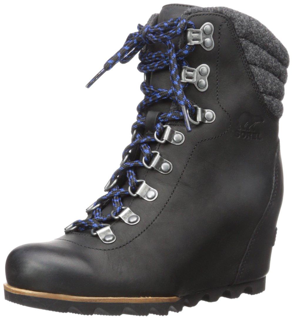 SOREL Women's Conquest Wedge Mid Calf Boot, Black, 11 M US by SOREL (Image #1)