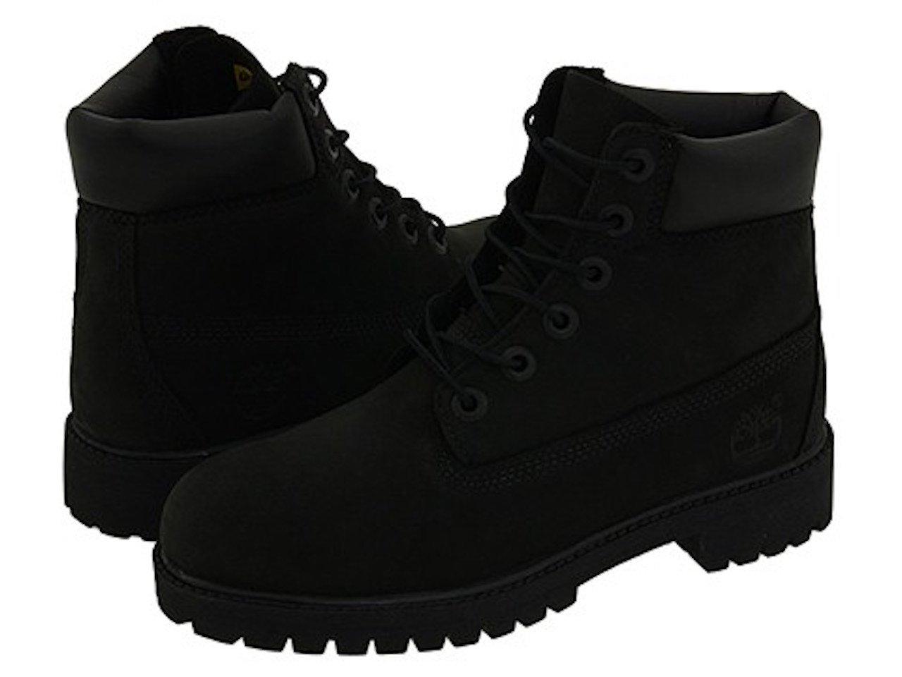 Timberland 6'' Premium Waterproof Boot (Toddler/Little Kid/Big Kid) (4 M US BIG KID, Original Black/Nubuck)