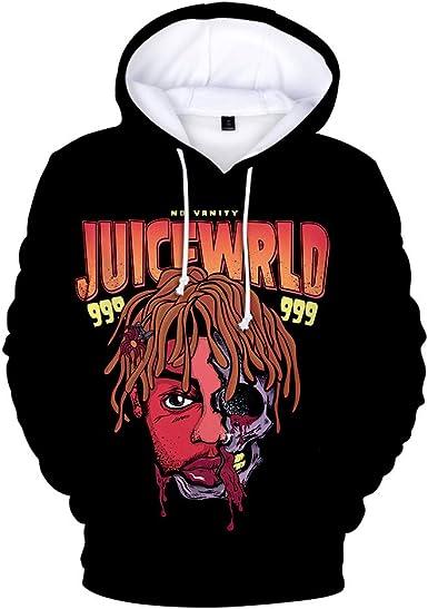 Juice Wrld Hoodie Hip Hop Sweatshirt Pocket Pullover Tops for Men Women