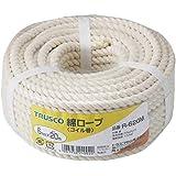 TRUSCO(トラスコ) 綿ロープ6mm×20mコイル巻 R620M