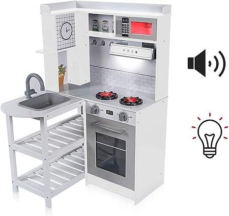 Bambini giocattolo elettronico Fornello Cucina Utensili da cucina per bambini-Blu Gioco Divertente