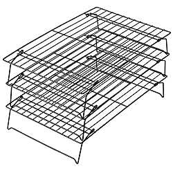 Love to bake but have limited space? This three-tiered cooling rack just solved that problem. It expands to 3 racks that stack on top of each other so you can cool batches of cookies, cake layers or countless finger foods all at once without sacrific...
