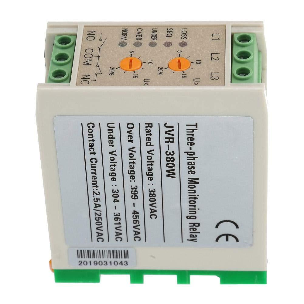 protettore di tensione utilizzato in motori elettrici rel/è di protezione sequenza fasi Jvr-380W Rel/è di controllo di sottotensione da sovratensione di circuito 380V ventole 50 // 60Hz