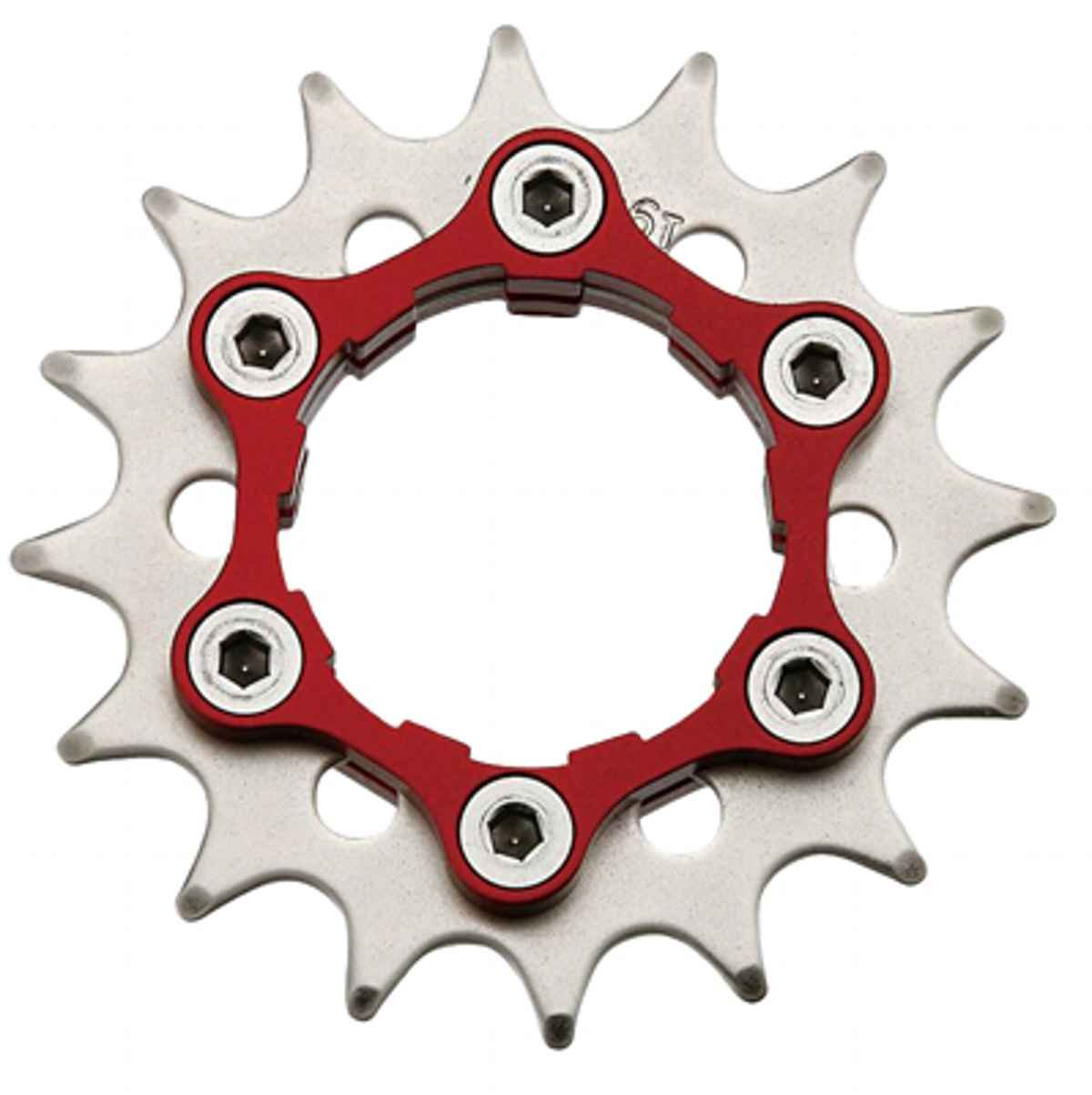 "Origin8 Ultim8 Single Speed Cassette Cog w  6b Disc Mount,16t x 3 32"", schwarz ROT"