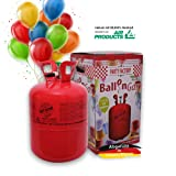 Party Factory Ballongas Helium für 50 Luftballons XXL SET inkl. 50 Latexballons + 100m Ballonband 99,996% Reines Helium