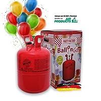 Party Factory Hélium Ballongaz 420 Litre pour 50 Ballon Set Inclus 50 Ballon et 100m Ballonficelle