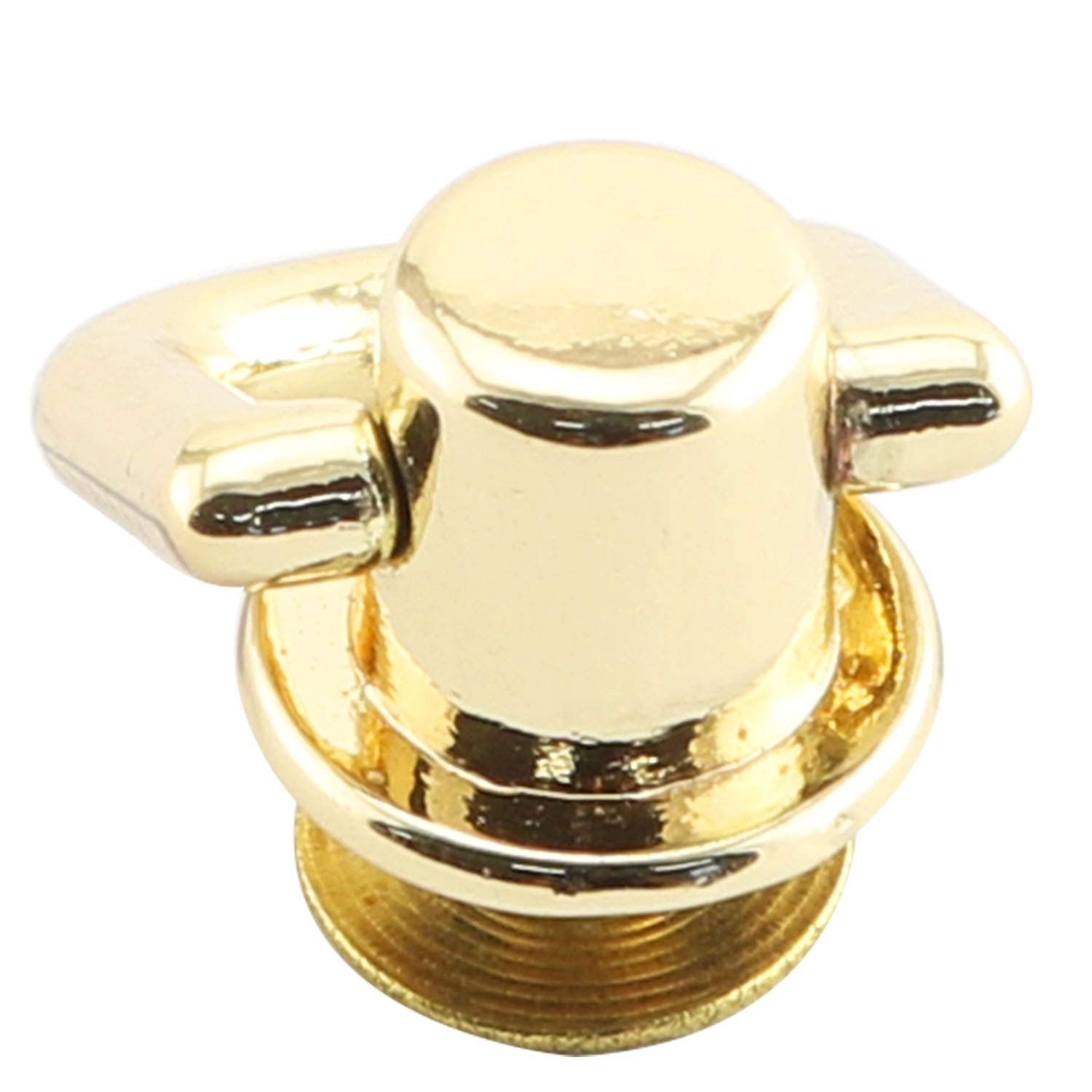 Youliang 6pcs 360 Degree Rotatable Ball Post Head Buttons with D Ring Metal Ring for Backpack Hardware Accessories Pale Gold