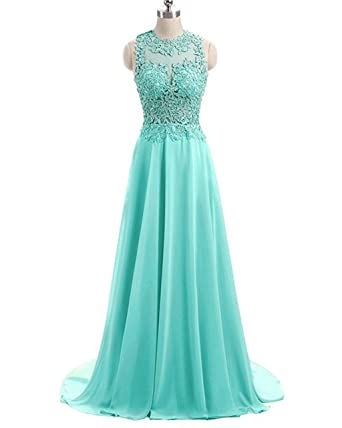 Fanciest Womens Crystal Beaded Prom Dresses 2017 Long Evening Gowns Formal Turquoise US2
