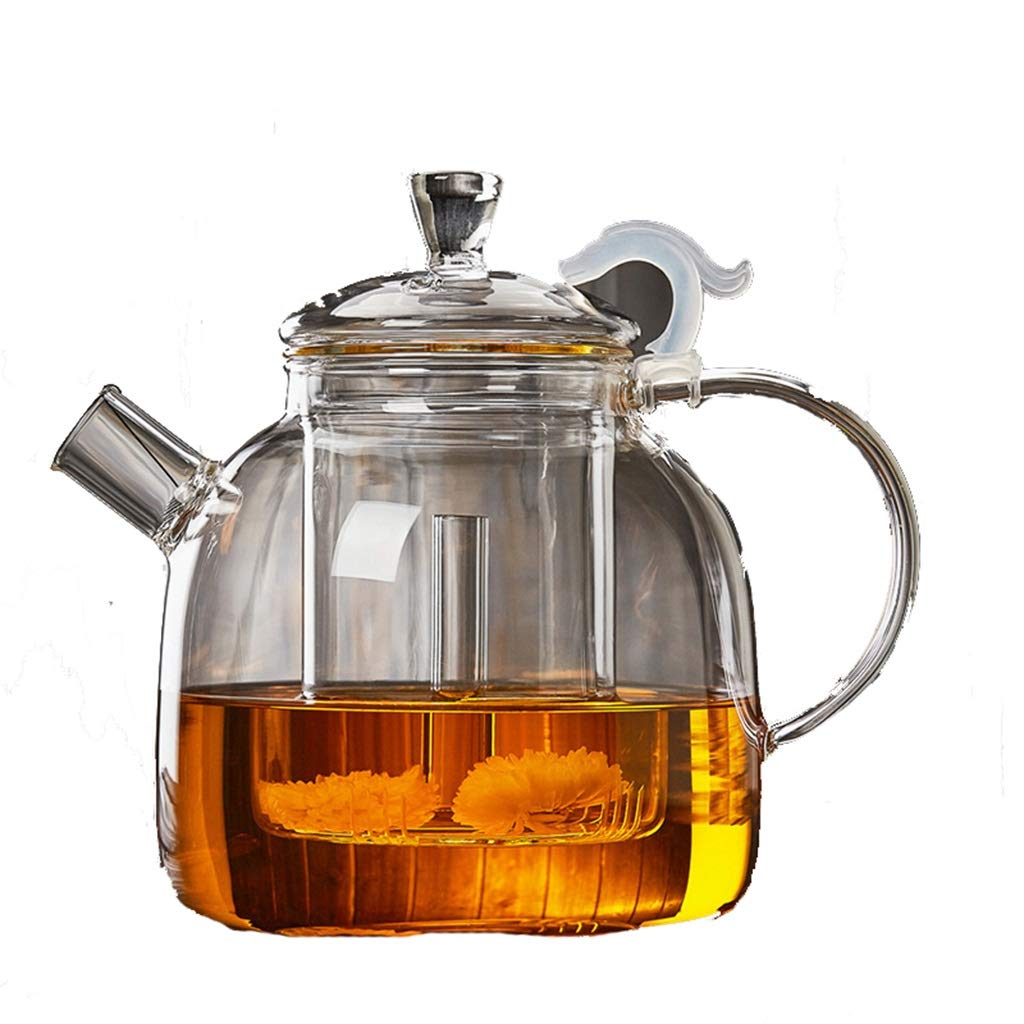 Glass teapot heat-resistant high-temperature thickening filter household pot Kung Fu tea set CHAJU (Color : A) by CHAJU