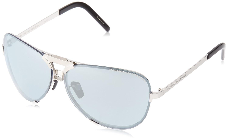 0d09444a0328 Amazon.com  Porsche Design Mens Palladium Sunglasses P8678 D  Interchangeable Lens  Clothing
