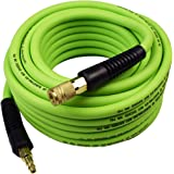 YOTOO Hybrid Air Hose 3/8-Inch by 50-Feet 300 PSI with 1/4-Inch Industrial Solid Brass Quick Coupler Fittings and Bend Restri