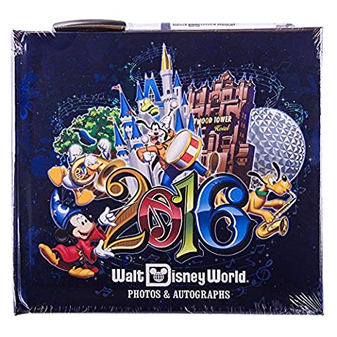 Walt Disney World Parks 2016 Photo Autograph Book with Pen NEW Music Magic Memories by Disney - Disney World Photo