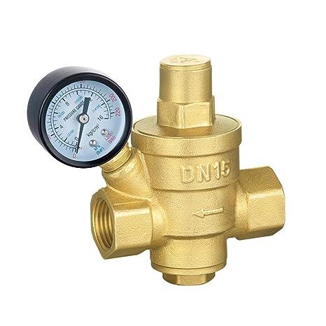 bestomz regulador de presión de agua ajustable Agua Reductor con presión – Tensiómetro DN15