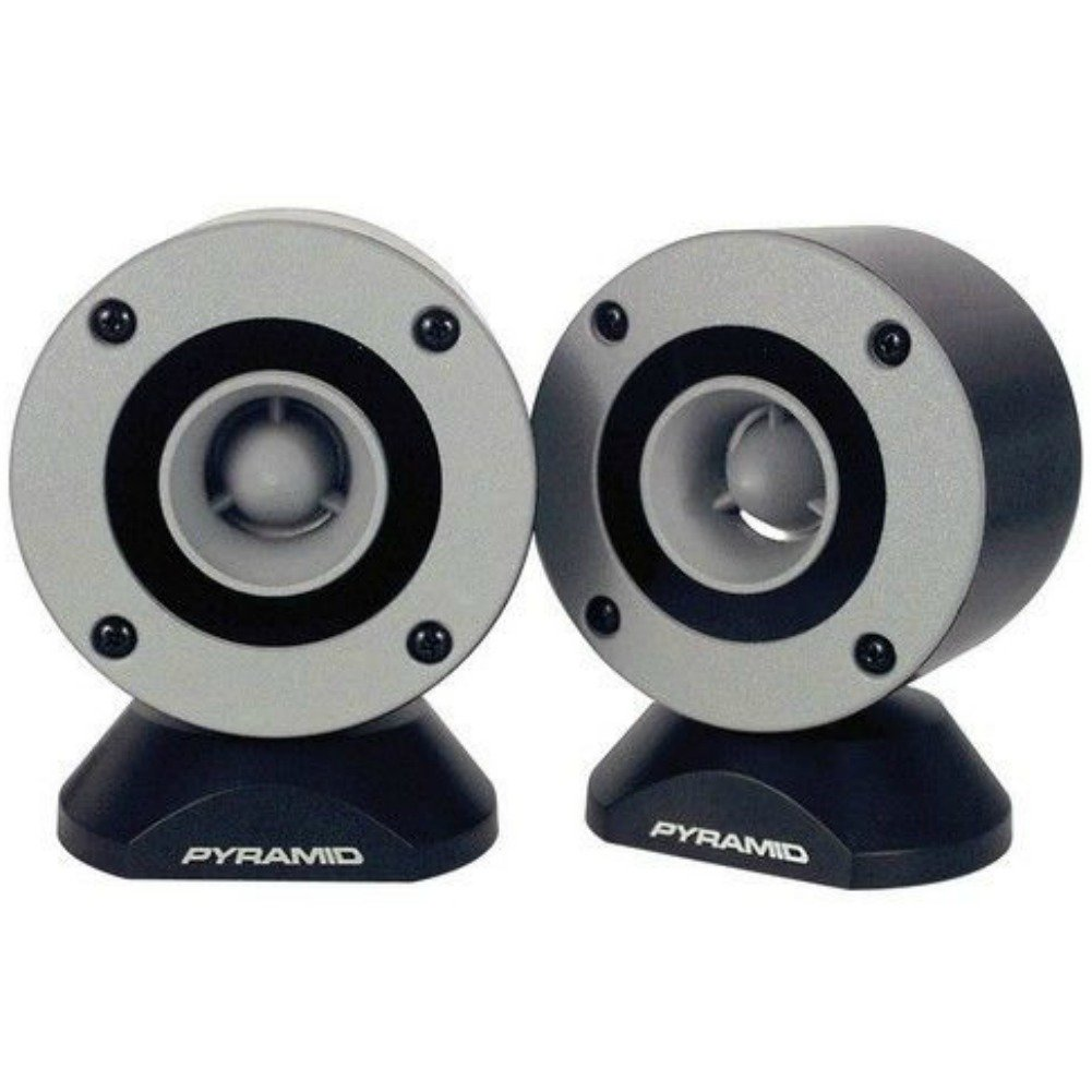 COUPLE DE TWEETER PYRAMID TW28 TW 28 GRIS DE 300 WATT RMS ET 600 WATTS MAX AU COUPLE X USAGE SPL EN VOITURE AVEC IMPÉ DANCE 4 OHM