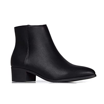 J. Adams Viper Ankle Bootie - Casual Pointed Toe Block Heel Slip On Boot: Shoes