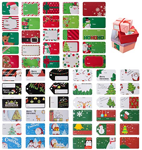 716 PCS Christmas Gift Tags Self-Adhesive Stickers – Write on Name Labels Decals, Great for Holiday and Decorative Festival Presents for Friends